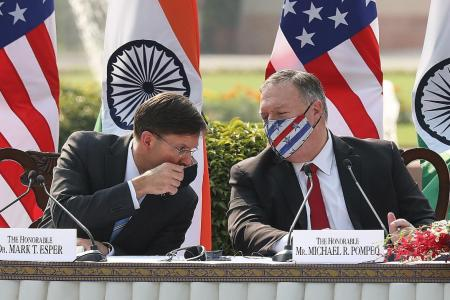 Pompeo says US and India must focus on threat posed by China