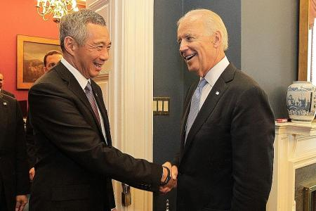 Singapore leaders congratulate Biden and Harris on US election win