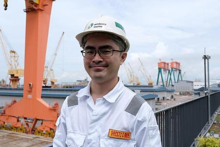 Sembcorp Marine engineer embraced reskilling for a new role