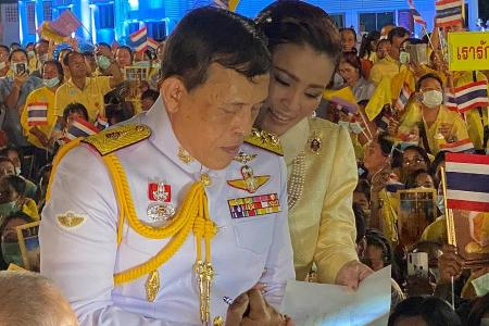 Thai king pens message of love for nation amid protests
