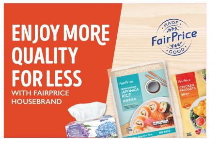 Shop and save more with FairPrice Housebrand
