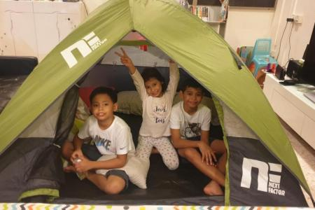 Families attend e-camp complete with virtual campfire
