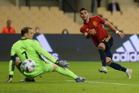 Spain thrash Germany 6-0 to reach Nations League Finals