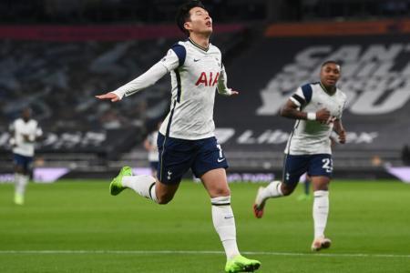 Tottenham go top after 2-0 win over Man City