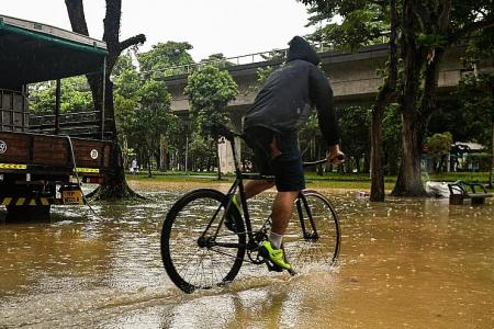 Heavy rain sparks flood warnings in 12 locations