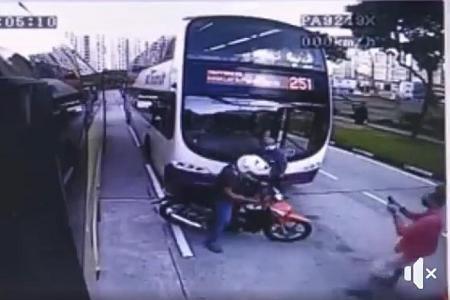 Motorcycle in two hit-and-runs moments apart