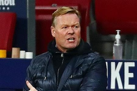 Koeman blasts players for error as Barca slip further in title race