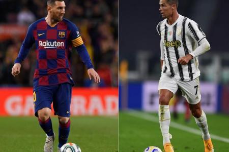 Lionel Messi (left) and Cristiano Ronaldo.