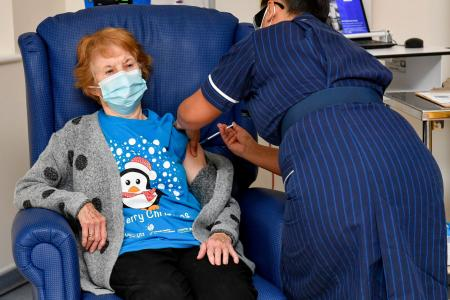 Grandma, 90, is first in world to receive fully-tested Covid-19 dose
