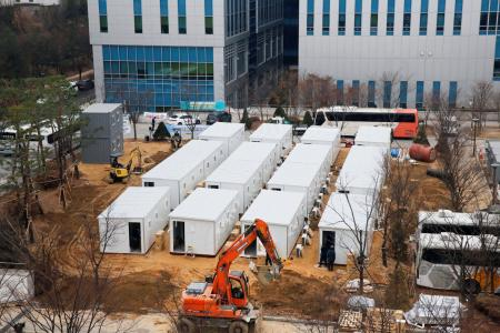S.Korea scrambles to build hospital beds in shipping containers