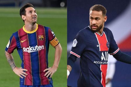 Lionel Messi v Neymar in Champions League last 16