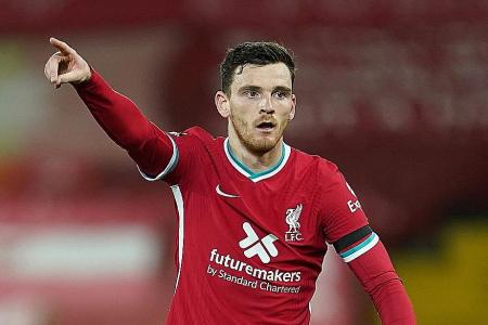 Andy Robertson wants Liverpool to 'kick on' in 2021