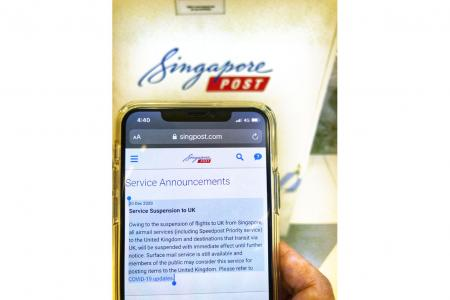 SingPost suspends all airmail to UK until further notice