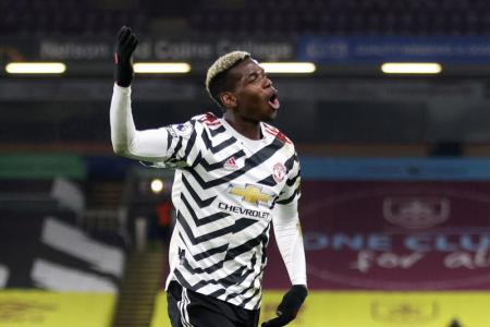Pogba sends Man United clear at the top with 1-0 win at Burnley