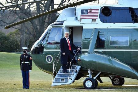 Trump's farewell address touts legacy, doesn't acknowledge Biden