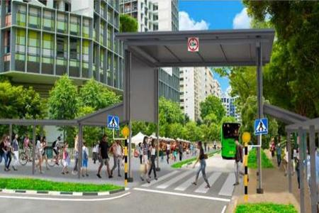 Trial to pedestrianise parts of road next to Kampung Admiralty