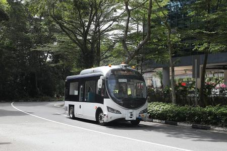 Commuters can ride driverless buses in two areas for a fee in trial
