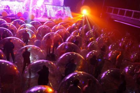 The Flaming Lips holds socially-distanced show in 'bubbles'