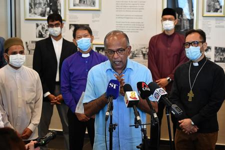 Places of worship should remain welcoming and open: Shanmugam
