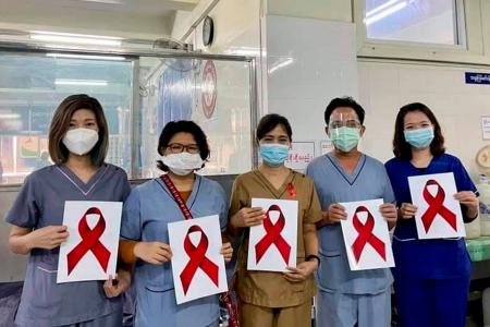 Healthcare workers in Myanmar join protest against coup