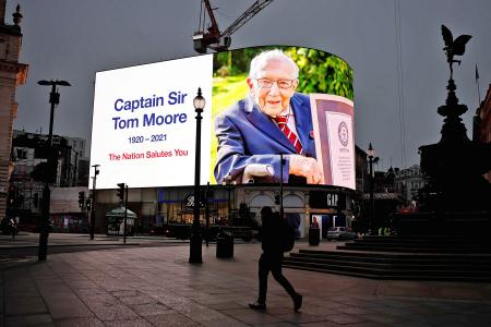 Britain mourns Covid-19 lockdown hero Captain Tom Moore
