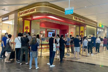 Long lines at Lim Chee Guan after it opens stores to walk-ins