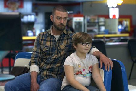 Justin Timberlake and Ryder Allen in the Apple TV+ movie Palmer