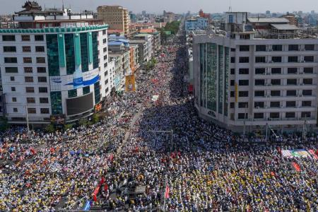 Strike paralyses Myanmar as protesters defy warnings