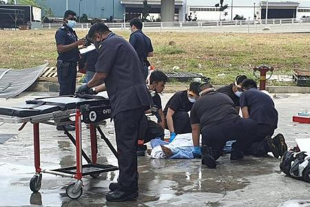 Tuas fire: An explosion, then victims ran out screaming