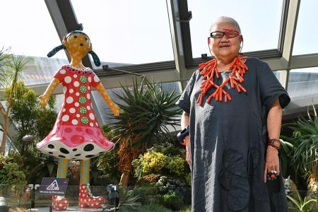 Art collector donates Yayoi Kusama sculpture to Gardens by the Bay