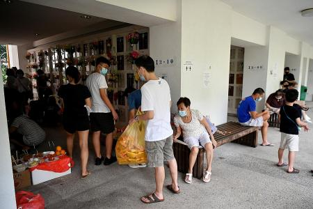 Smaller crowds for Qing Ming Festival at Mandai Columbarium