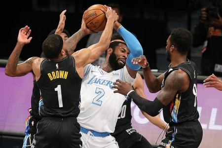 Drummond stars as depleted LA Lakers defeat Brooklyn Nets