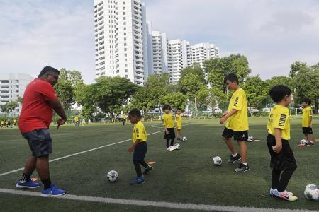 Leaving no child behind at HotShotz football clinic