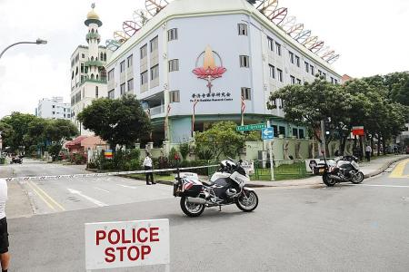 Geylang construction site cordoned off after projectile found