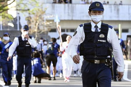 On-duty cop is first Covid-19 case at Olympic torch relay