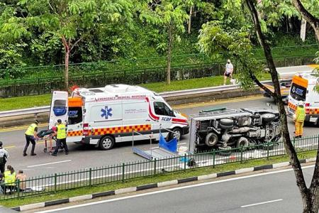 10 men taken to hospital after second lorry crash in four days