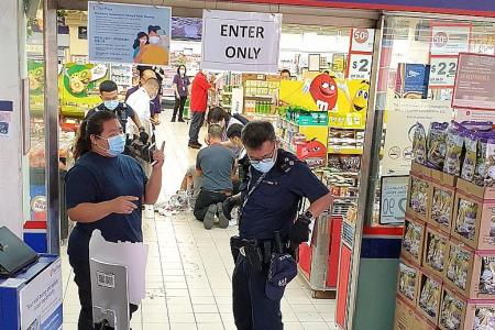Teen jailed and caned for slashing man in supermarket