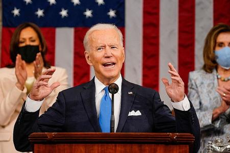 Biden goes tough on China in first speech to Congress