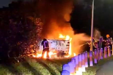 No time for fear, says man who battled van fire near Jurong Hill