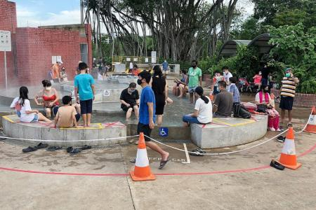 All water play areas in public parks closed until May 30