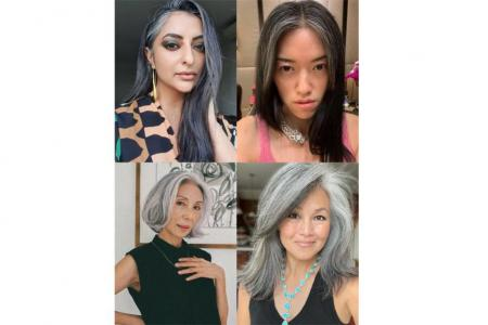 Grey-haired Instagram influencers who embrace their silvery manes