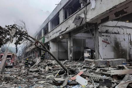 Gas line blast in China residential area kills 12