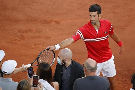 Novak Djokovic thanks boy for 'tactical advice'