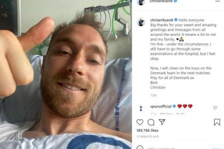 Euro 2020: Christian Eriksen says 'I'm fine' from hospital bed
