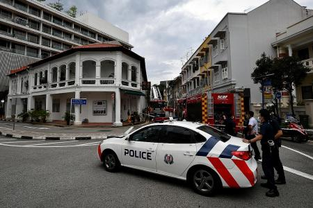 Ceiling falls on firefighters in shophouse blaze in Outram Park