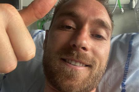 Recovering Christian Eriksen thanks well-wishers