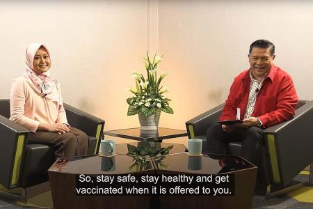 Ministers join celebs online to urge seniors to get vaccinated