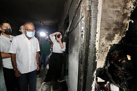 Maid makes sure elderly neighbour escapes flat in Yishun blaze