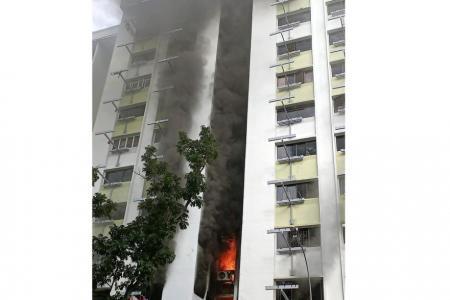 Quick-thinking maid helps elderly neighbour escape flat in Yishun blaze