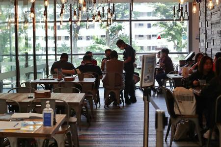 Patrons welcome easing of restrictions at eateries, foodcourts